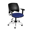 Stars Swivel Chair with Arms, Royal Blue